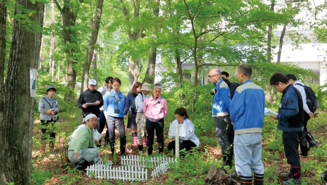 Initiative by Morioka Seiko Instruments Inc.: Creation of green area with consideration of biodiversity through the Green Wave Project