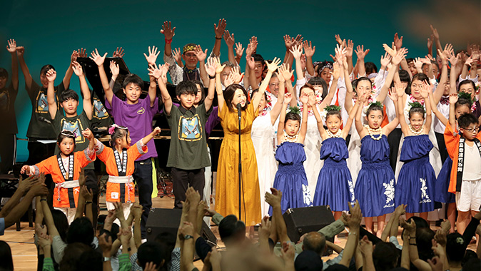 "A concert to support eastern Japan in a spirit of ""harmony"" 2018 in Kitakata, finale with all performers"
