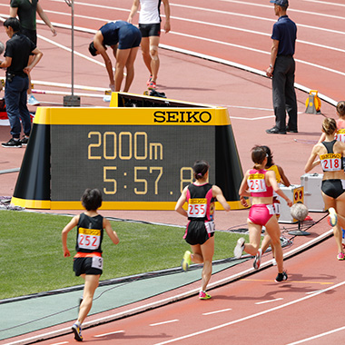 Providing timing and measurement devices and result systems for sporting events such as athletics and swimming