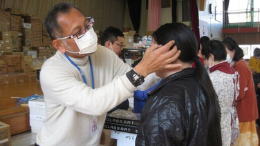2011.04: Donated eye-glass lenses to disaster victims through eye-glass stores