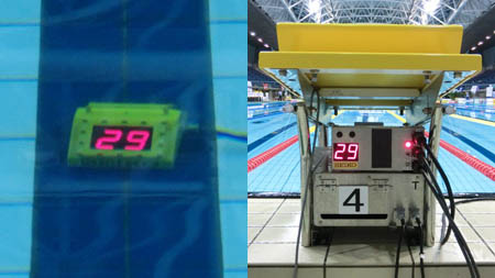 Underwater lap counter system